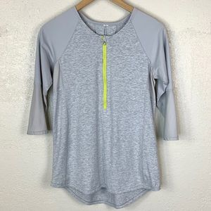 LULULEMON Size 8? Spin City Zip Front Top Neon